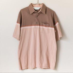 Men's Vintage Two Tone Polo Shirt 70s